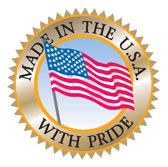 Image of a Made in the USA sticker.